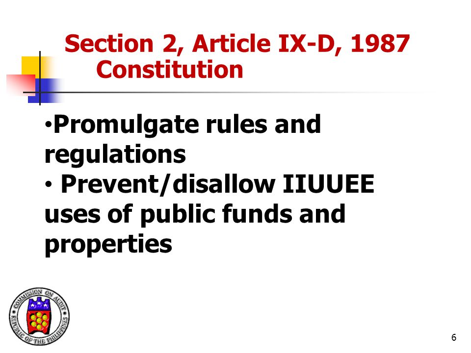 Promulgate rules and regulations