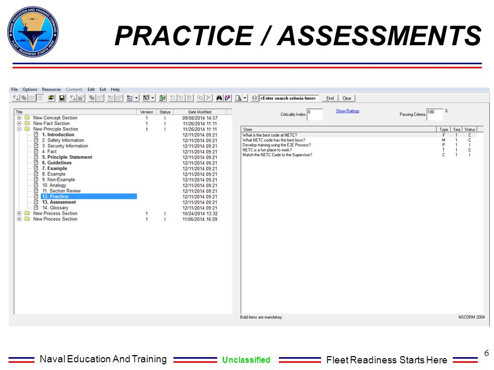 Practice / Assessments