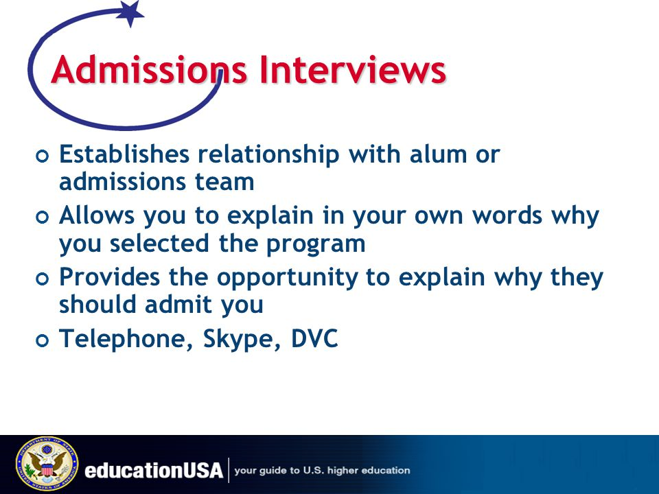 Admissions Interviews
