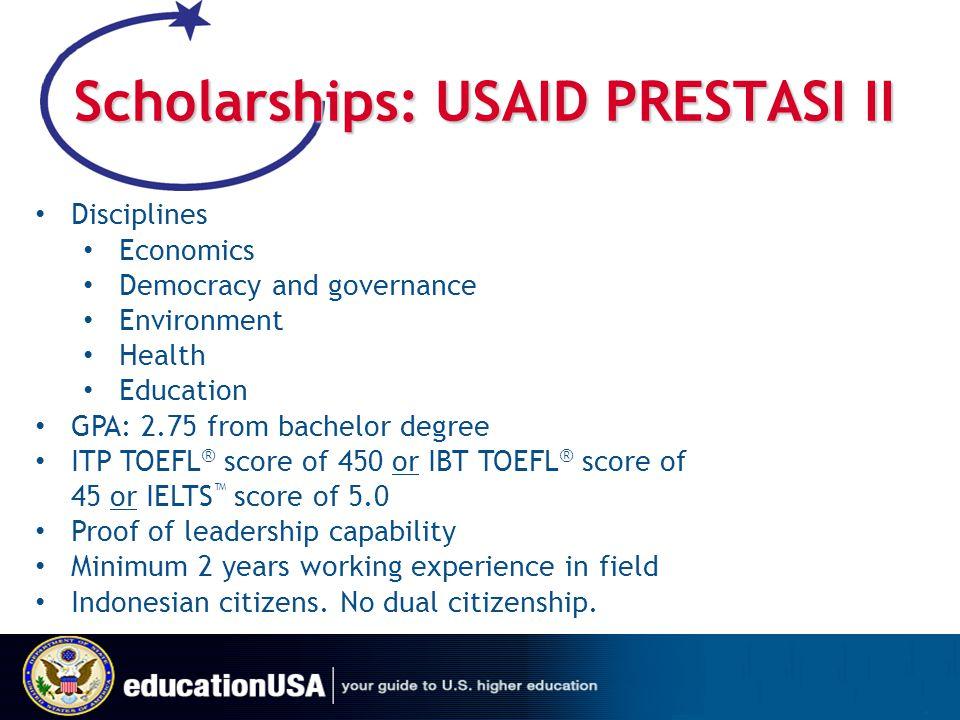 Scholarships: USAID PRESTASI II