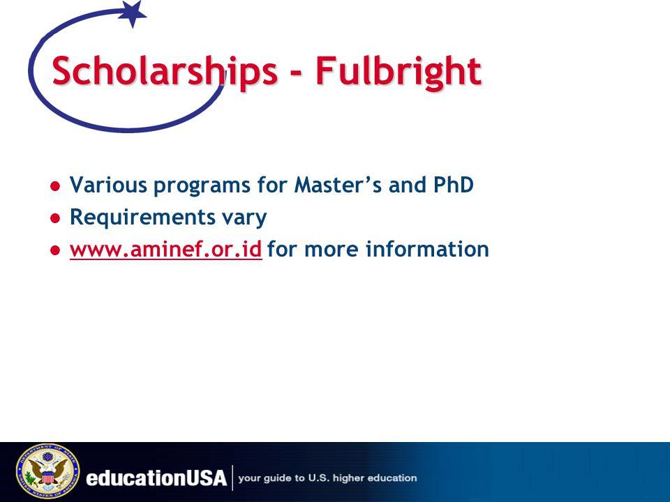Scholarships - Fulbright