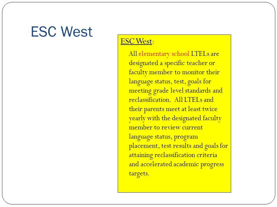 ESC West ESC West: