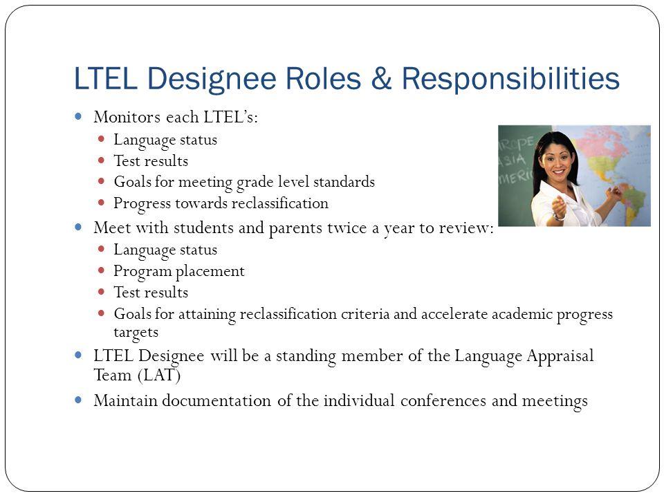 LTEL Designee Roles & Responsibilities