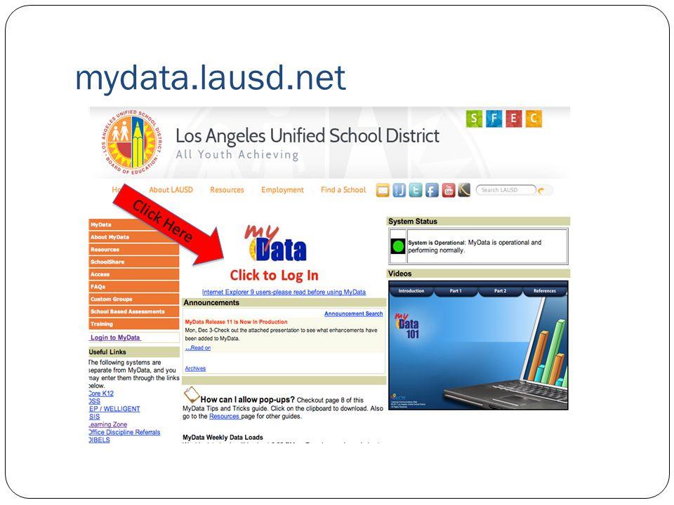 mydata.lausd.net Click Here