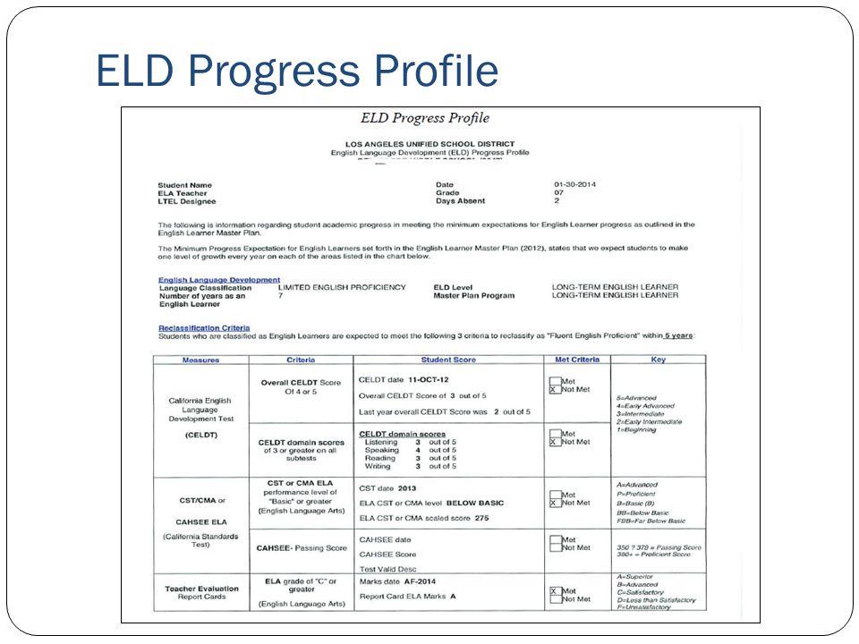 ELD Progress Profile