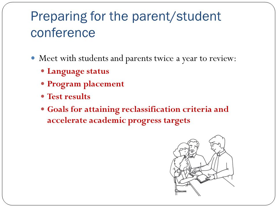 Preparing for the parent/student conference