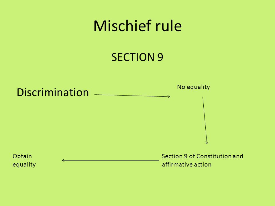 SECTION 9 Discrimination