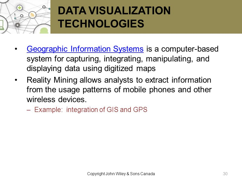 DATA VISUALIZATION TECHNOLOGIES