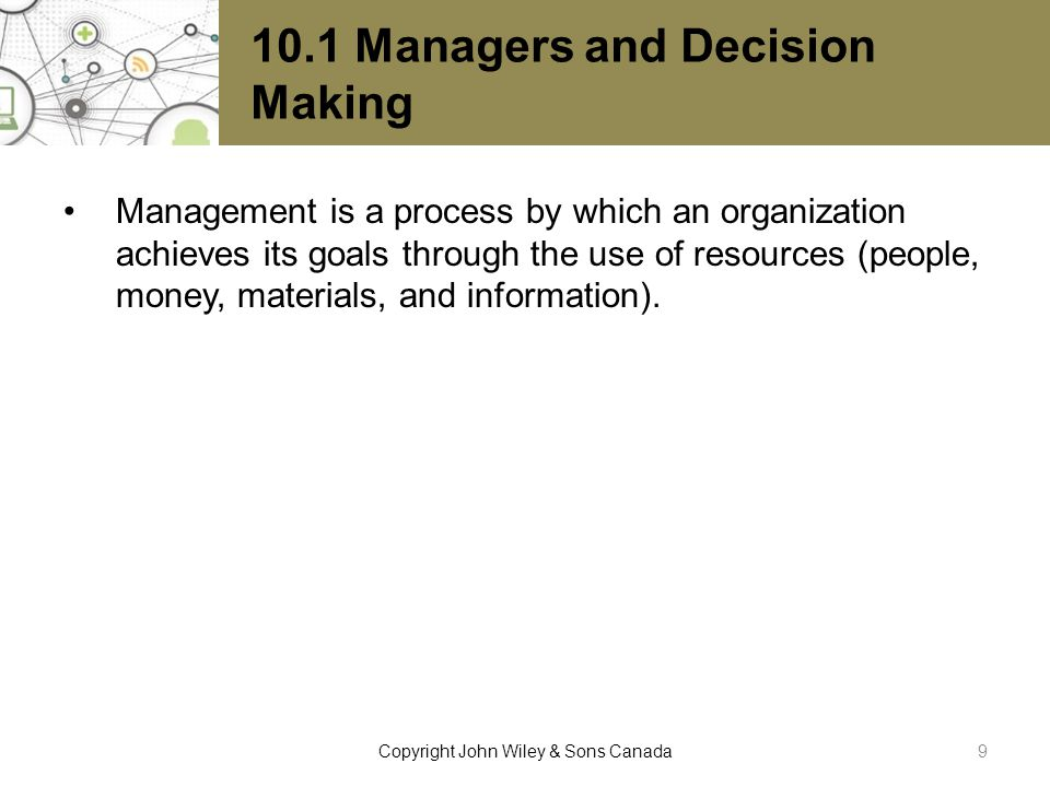 10.1 Managers and Decision Making