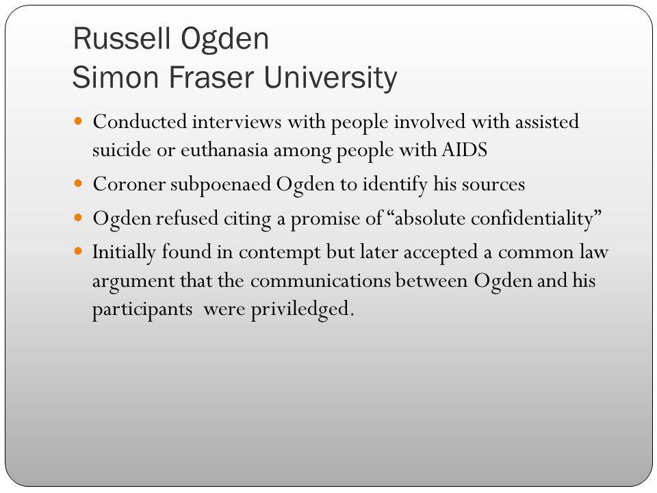 Russell Ogden Simon Fraser University
