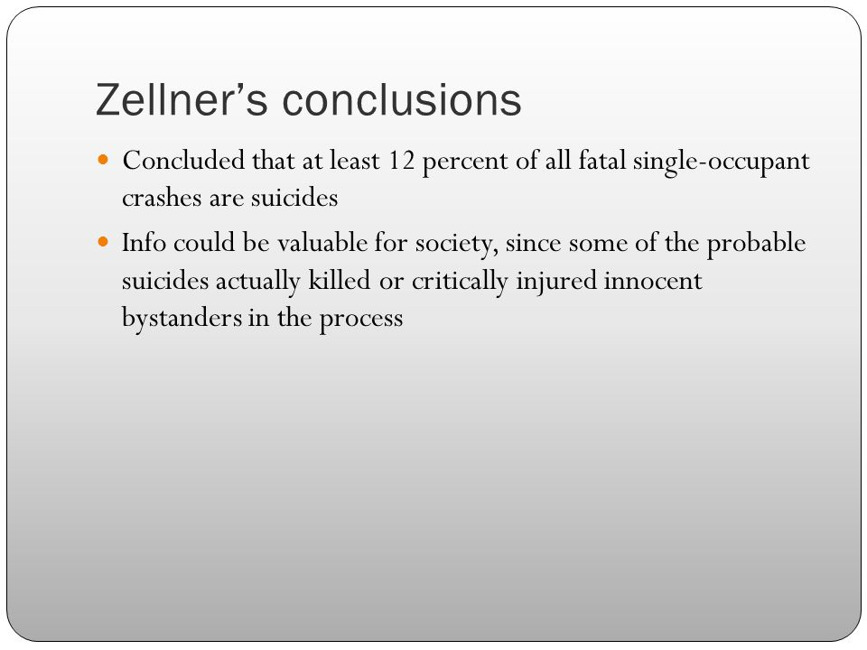 Zellner's conclusions