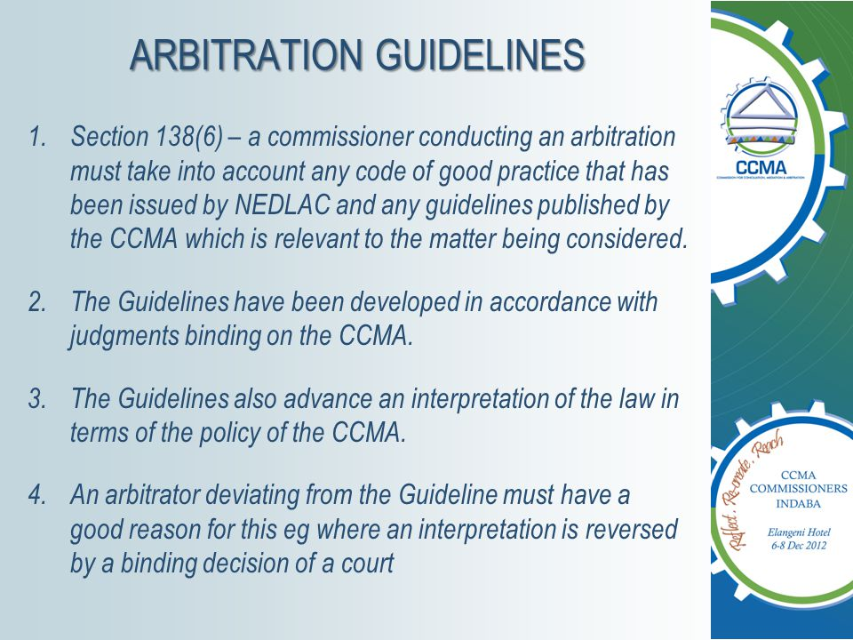 ARBITRATION GUIDELINES