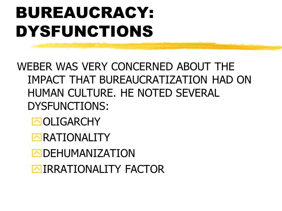 BUREAUCRACY: DYSFUNCTIONS