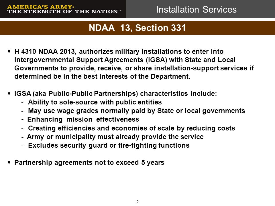 NDAA 13, Section 331