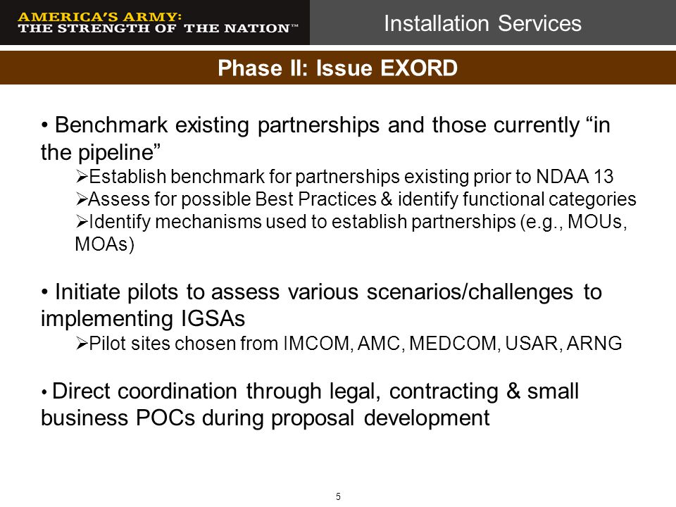 Benchmark existing partnerships and those currently in the pipeline