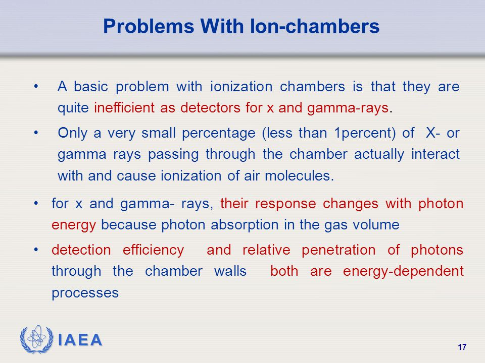 Problems With Ion-chambers