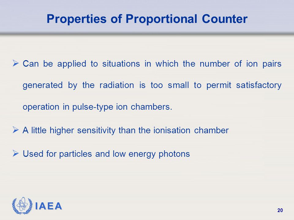 Properties of Proportional Counter
