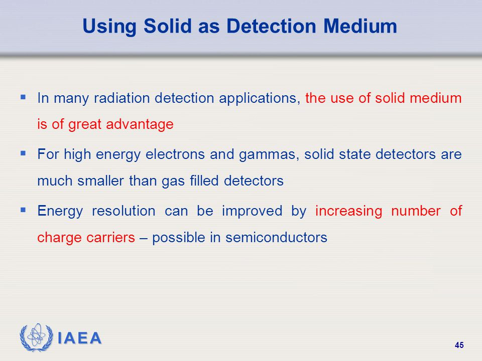 Using Solid as Detection Medium