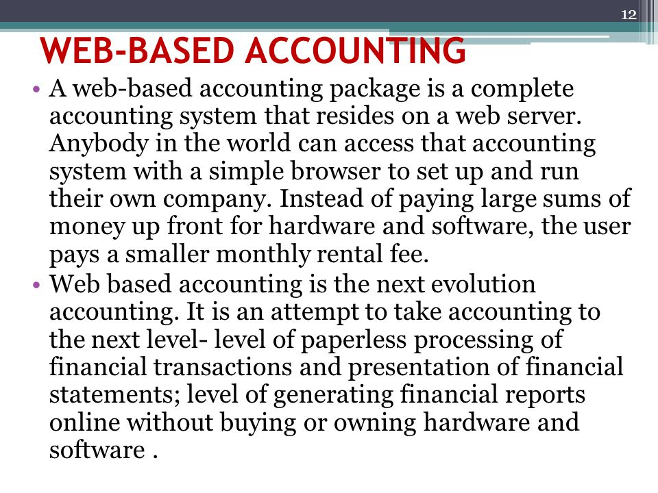 WEB-BASED ACCOUNTING