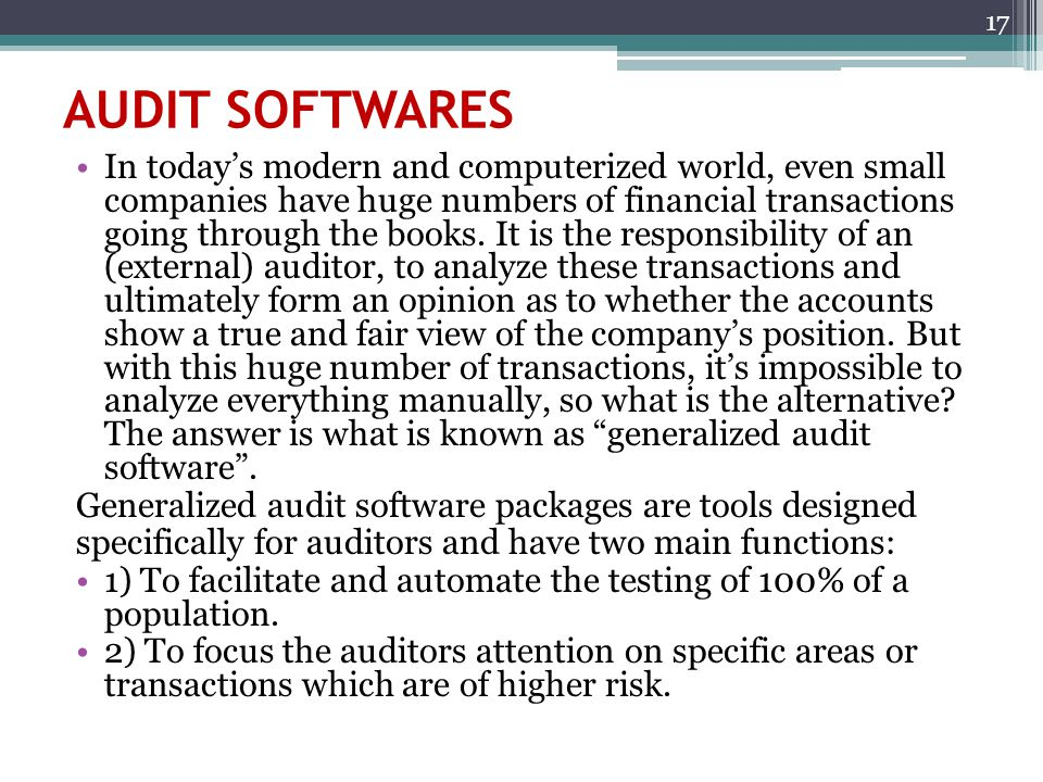 AUDIT SOFTWARES