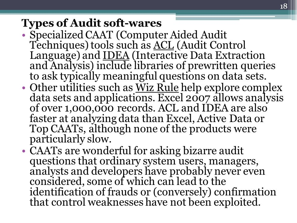 Types of Audit soft-wares