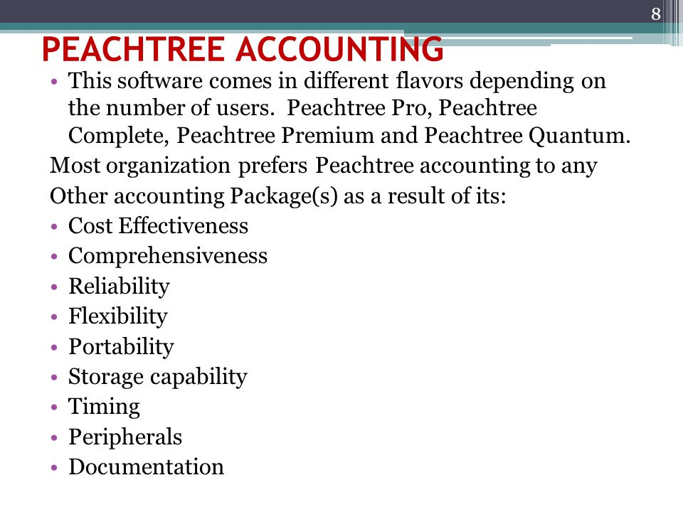 PEACHTREE ACCOUNTING