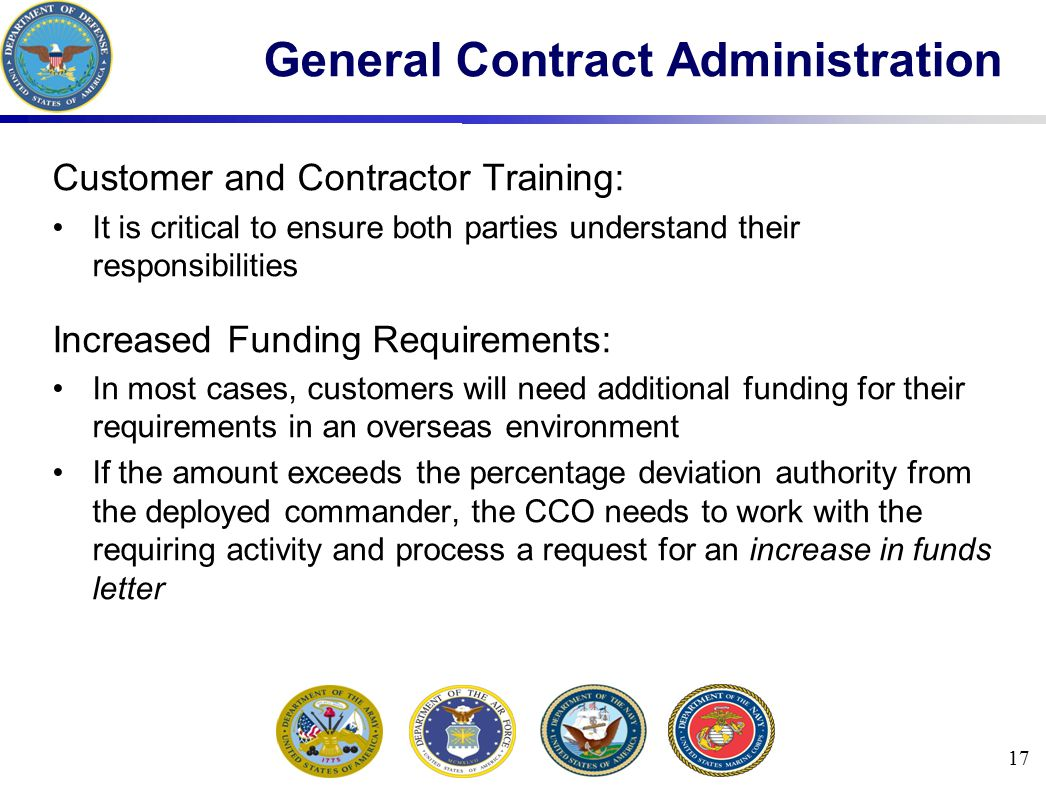 General Contract Administration