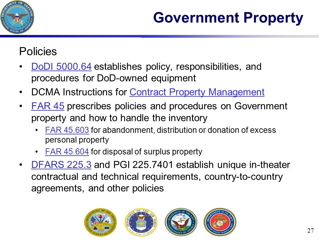 Government Property Policies