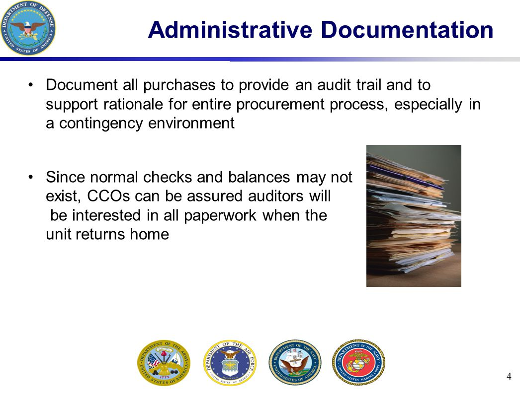 Administrative Documentation