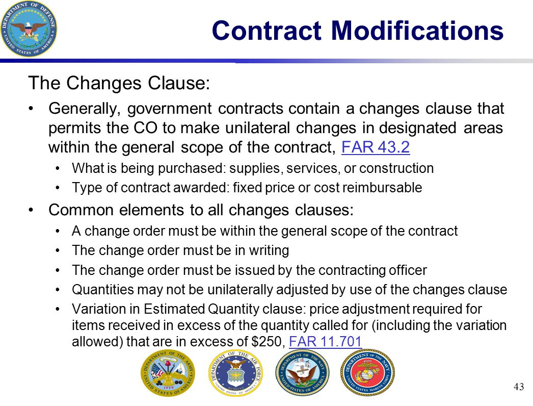 Contract Modifications