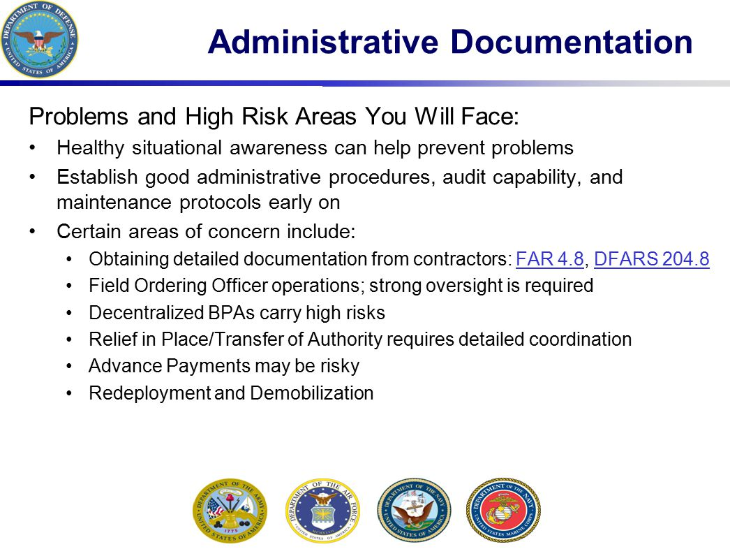 Administrative Documentation