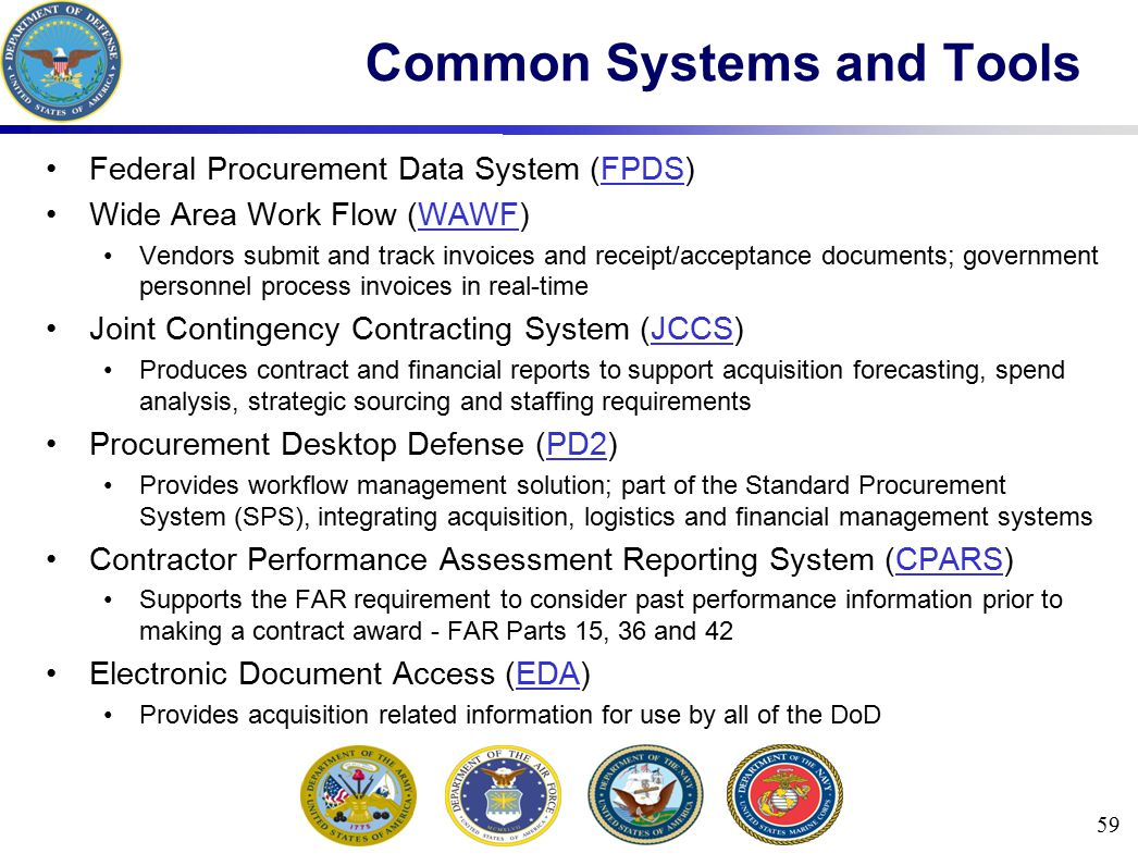 Common Systems and Tools