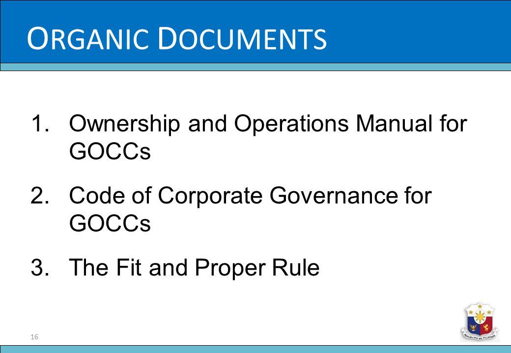 ORGANIC DOCUMENTS Slide Title
