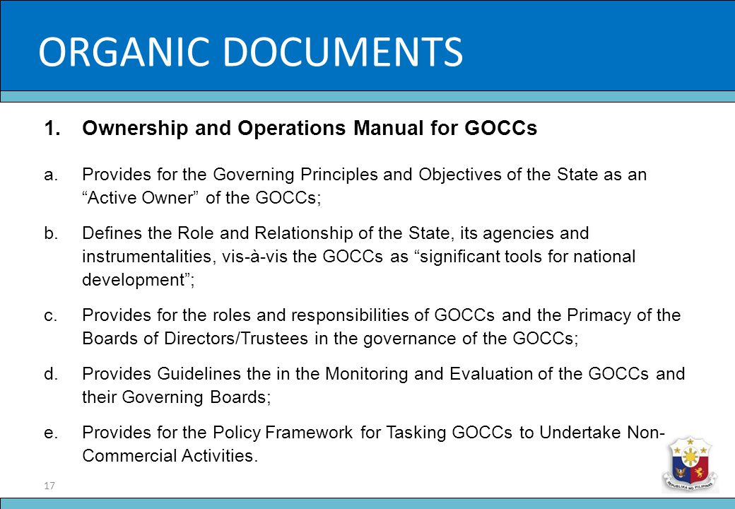 ORGANIC DOCUMENTS Slide Title