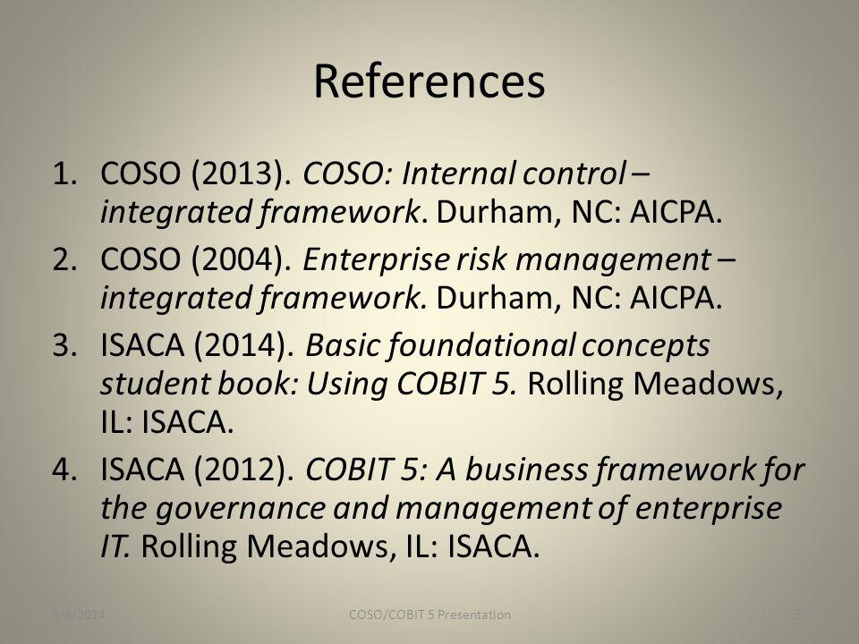 COSO/COBIT 5 Presentation