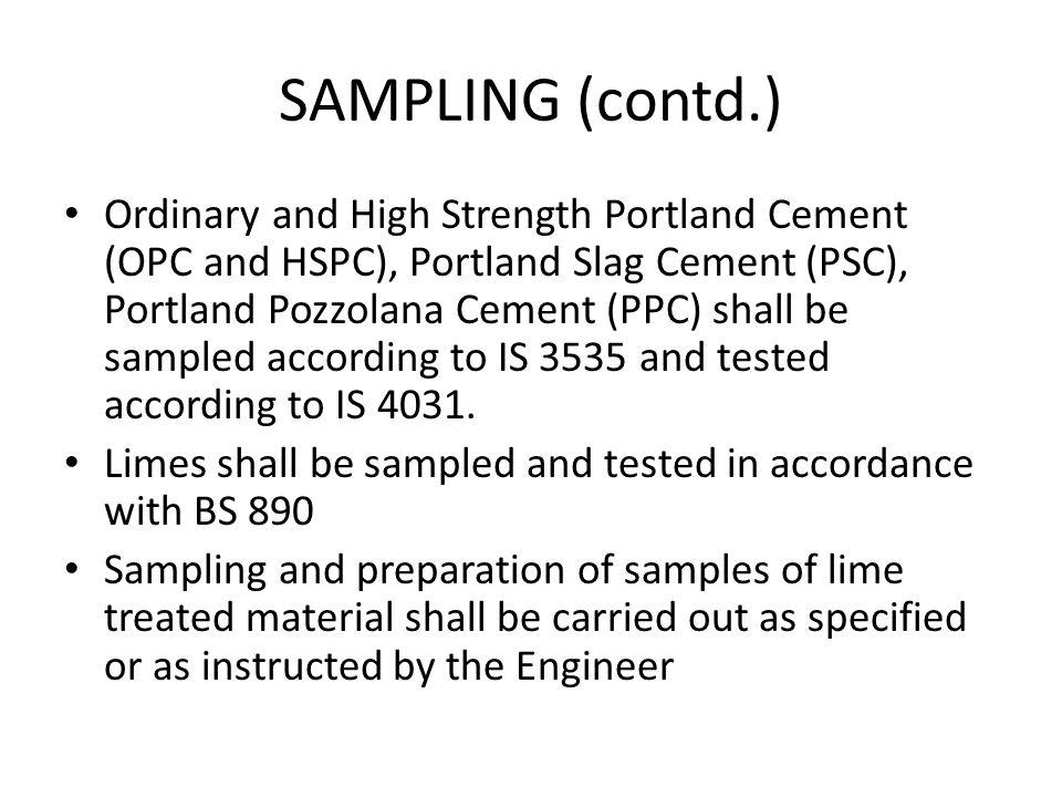SAMPLING (contd.)