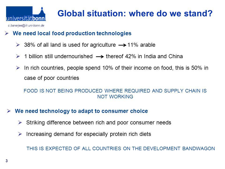 Global situation: where do we stand
