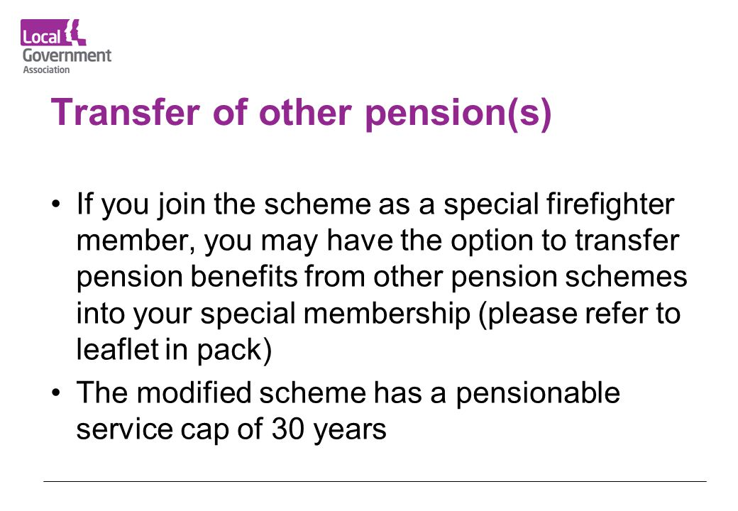 Transfer of other pension(s)