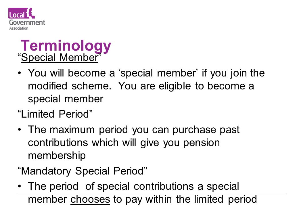 Terminology Special Member