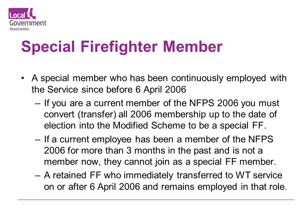 Special Firefighter Member