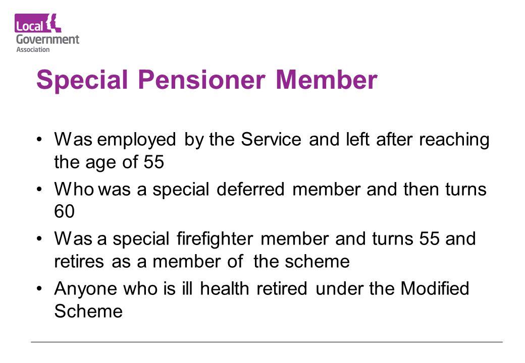 Special Pensioner Member
