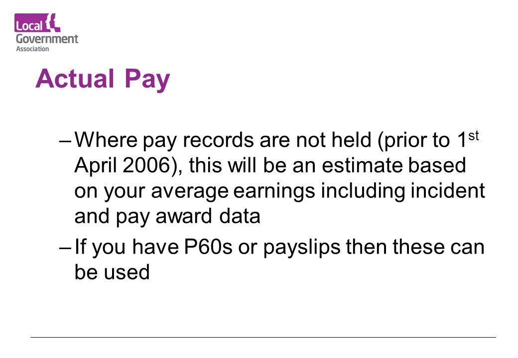 Actual Pay