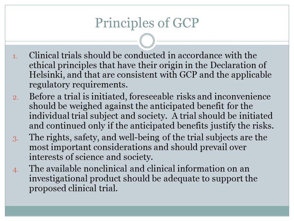Principles of GCP