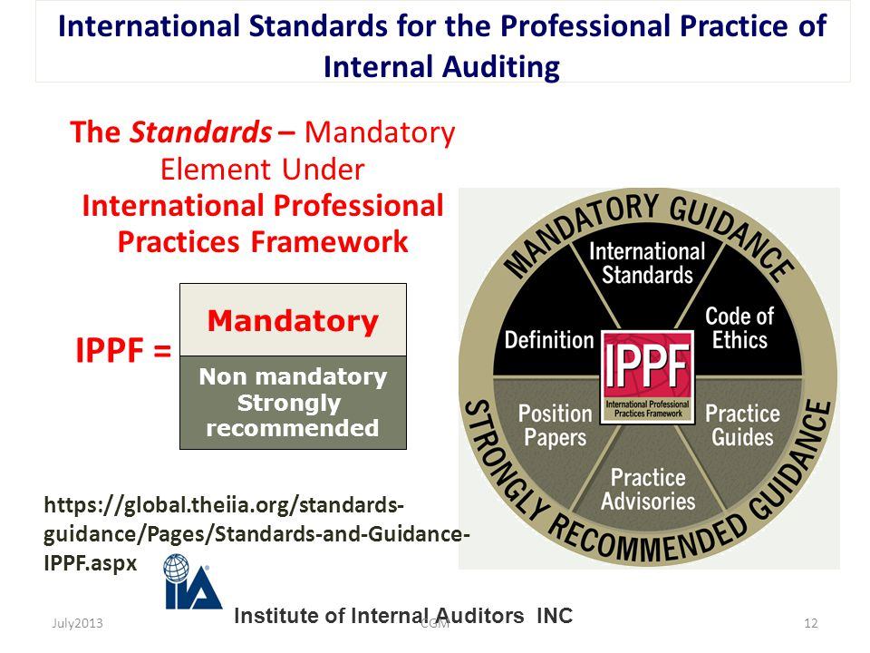 International Standards for the Professional Practice of Internal Auditing