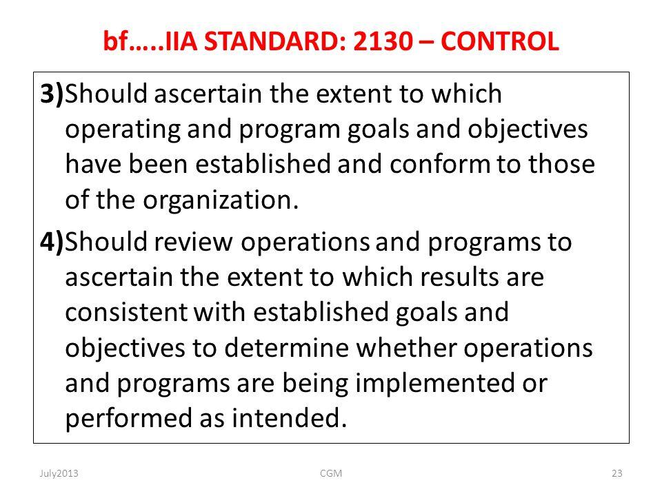 bf…..IIA STANDARD: 2130 – CONTROL