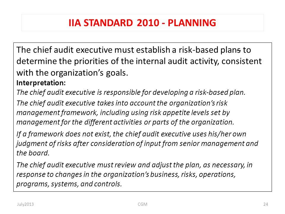 IIA STANDARD 2010 - PLANNING