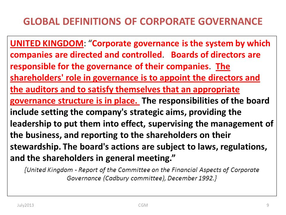 corporate governance means the process and Corporate governance is the structure of rules, practices and processes by which  a  taking a company public doesn't mean founders must completely give up.