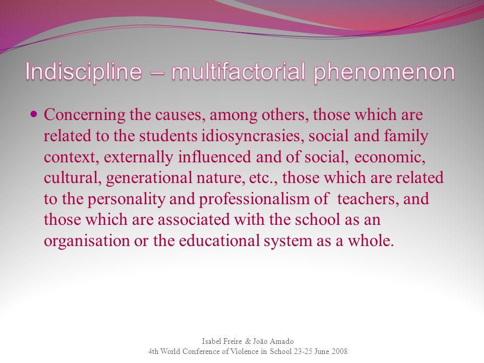 Indiscipline – multifactorial phenomenon