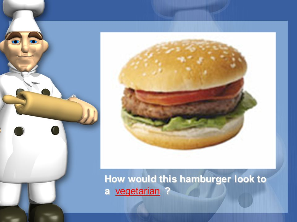 How would this hamburger look to