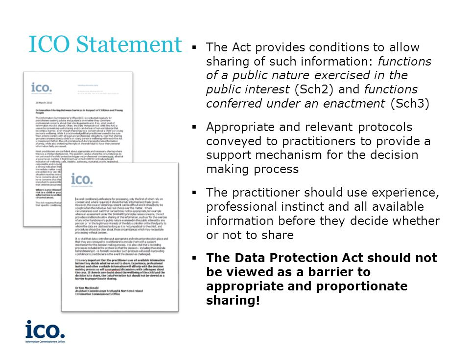 ICO Statement